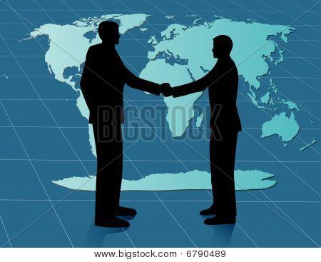 World Business Deal - vector illustration