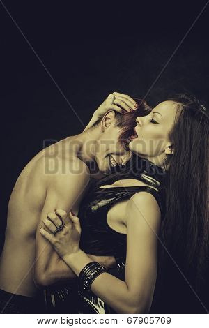 Sexy Lady And Evil Man