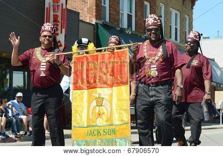 Al-ashraf Representatives At The Ypsilanti, Mi 4Th Of July Parade