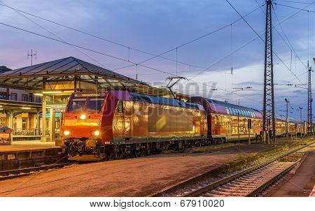 Suburban Electric Train At Offenburg Railway Station. Germany - Baden-wurttemberg