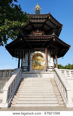 Peace Pagoda In Battersea Park (London)