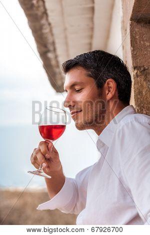 vintage portrait of wine taste in spain italy france