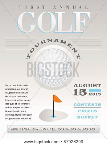 Minimal Golf Tournament Illustration