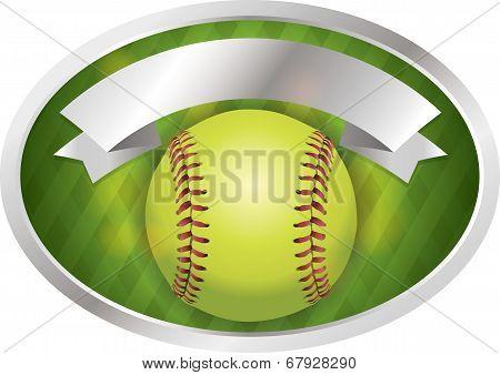 Softball Emblem Banner Illustration
