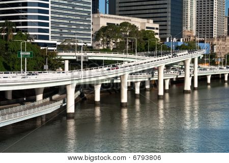 Road Ramps Over River