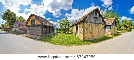 Rural Village Historic Architecture In Croatia