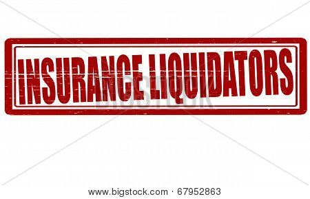 Stamp with text insurance liquidators inside vector illustration