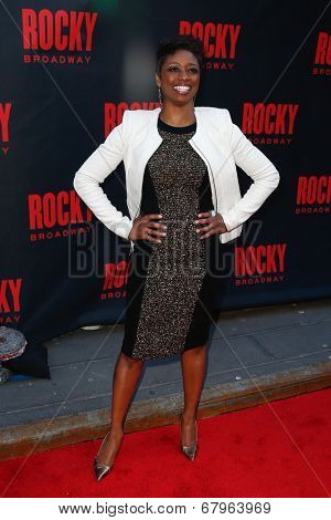 NEW YORK-MAR 13: Stage actress Montego Glover attends the 'Rocky' Broadway opening night at the Winter Garden Theatre on March 13, 2014 in New York City.