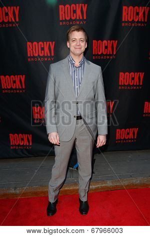 NEW YORK-MAR 13: Actor Chris Henry Coffey attends the 'Rocky' Broadway opening night at the Winter Garden Theatre on March 13, 2014 in New York City.