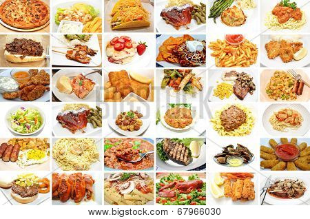 Restaurant Meals Collage