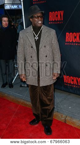 NEW YORK-MAR 13: Actor Wesley Snipes attends the 'Rocky' Broadway opening night at the Winter Garden Theatre on March 13, 2014 in New York City.