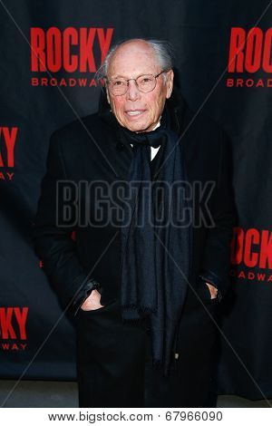 NEW YORK-MAR 13: Film producer Irwin Winkler attends the 'Rocky' Broadway opening night at the Winter Garden Theatre on March 13, 2014 in New York City.