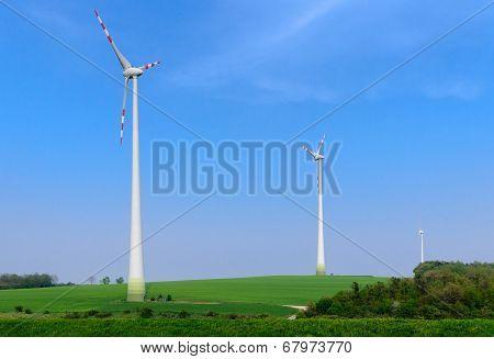 Three wind generators