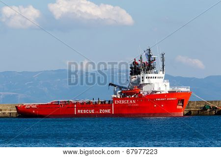 Valiant Energy Ship During The Opening Ceremony For The Exhibition For Kavala Airshow 2014, In Kaval