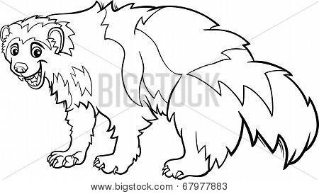 Wolverine Animal Cartoon Coloring Page