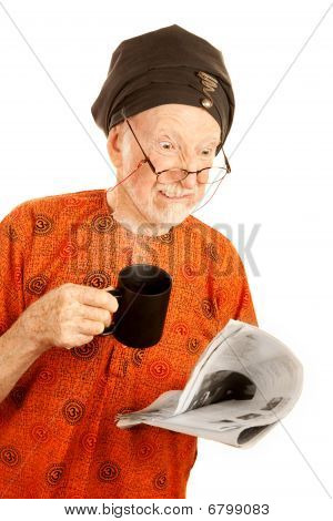 Skeptical New Age Man With Coffee