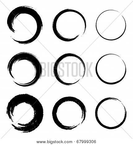 Set of Grunge Circle Stains