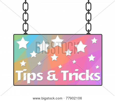 Tips And Tricks Signboard
