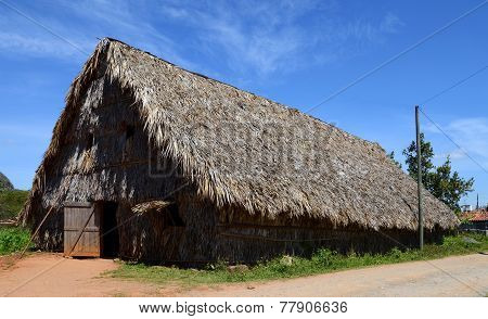 Tobacco drying shed in Vinales, Cuba