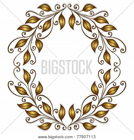 Vector Gold Laurel Wreath