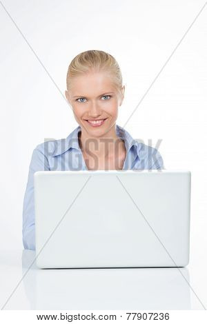 Portrait Of Smiling Female Business Person