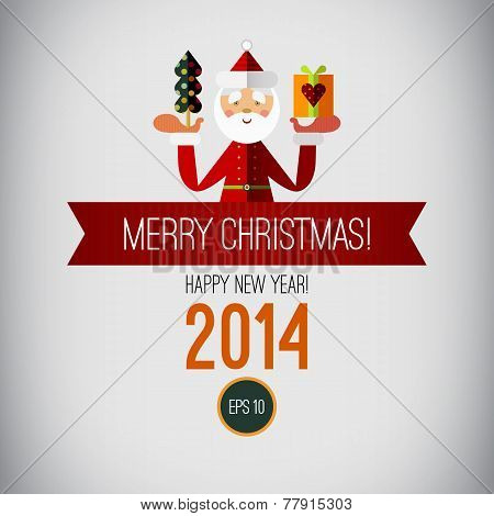 Merry christmas design. Happy new year. 2014. Vintage Christmas.