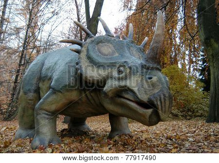 Styracosaurus (Styracosaurus albertensis). Dinosaur from the Cretaceous period. poster