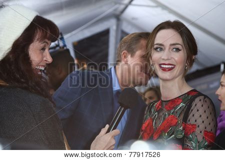 NEW YORK-DEC 8: Actress Emily Blunt attends the