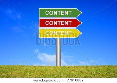 Sign: Content Content Content