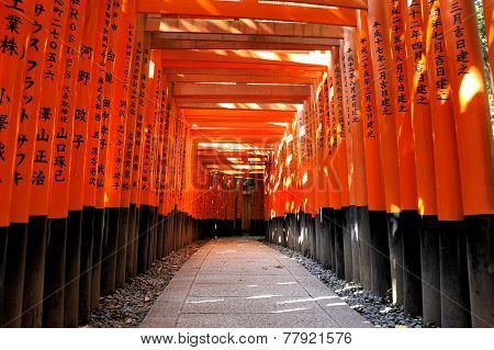 Ushimi Inari Taisha Shrine In Kyoto, Japan