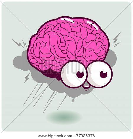 Brain storm cartoon character