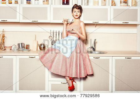 Girl In Apron