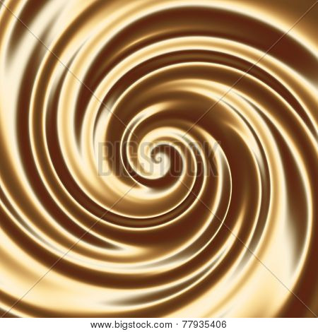 Chocolate Milk Cocktail Swirl Abstract Background