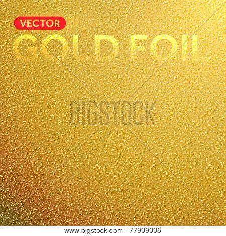 Vector gold foil background. Golden foil texture.