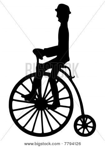 Pennyfarthing and rider