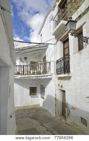 Street of Capileira in La Alpujarra Granada Spain