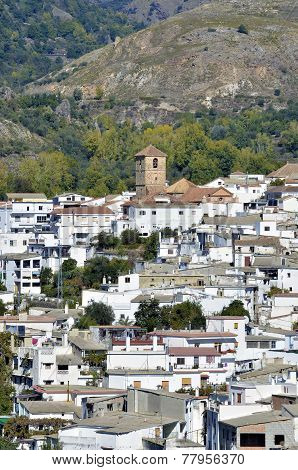 overview of Cadiar small Moorish village in La Alpujarra. Granada Spain