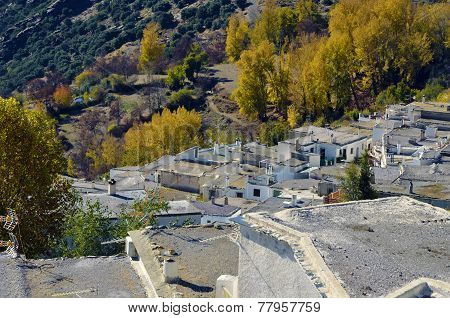 Busquistar town in the Alpujarra, Granada, Spain