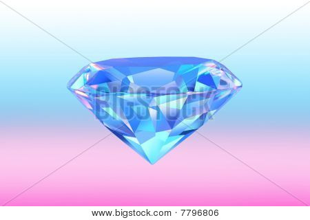 Close up of diamond for background etc . poster