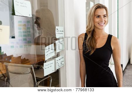 Young Woman Entrepreneur In Her Startup Office