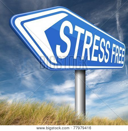 stress free zone totally relaxed without any work pressure succeed in stress test trough stress management reduce and control external pressure