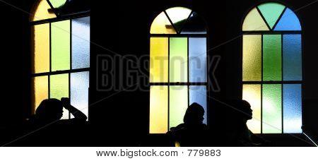 Silhouettes in Church