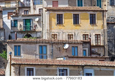 Panoramic view of Morano Calabro. Calabria. Italy. poster