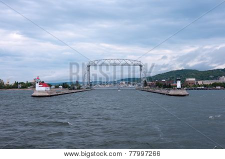 Aerial Lift Bridge And Duluth Canal