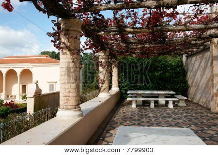 Italian style patio.
