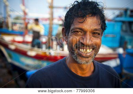 Sri Lankan fisherman. poster
