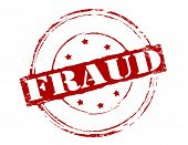 Rubber stamp with word fraud inside vector illustration poster