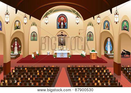 Pastor Giving A Sermon At A Church