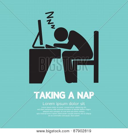 Taking A Nap Graphic Symbol.