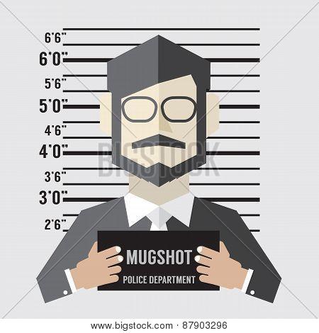 Mugshot Of Businessman.